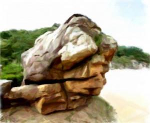 大いなる岩の顔の祈りの経緯